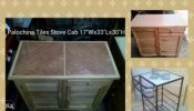 Tiles Stove Stand. And Palochina Stove Cabinet. Brand new